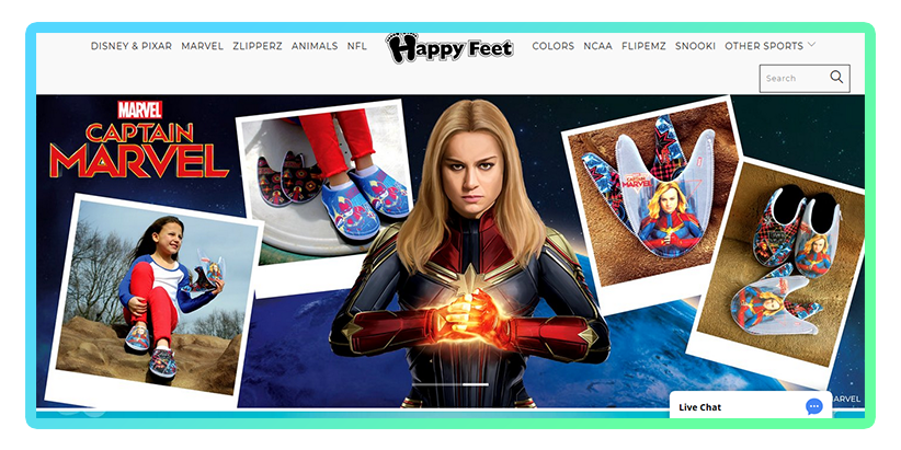 Happy Feet teaming up with Captain Marvel