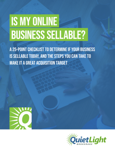 Sellable Business Checklist PDF's First Page