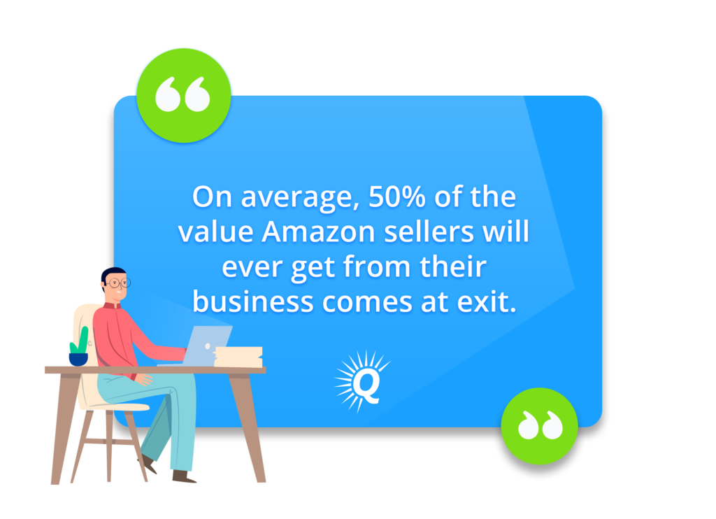 Quote: On average, 50% of the value Amazon sellers will ever get from their business comes at exit.